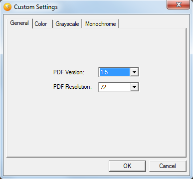 Custom output quality settings