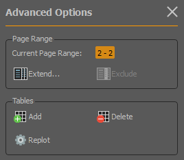 pdf to xls conversion preferences