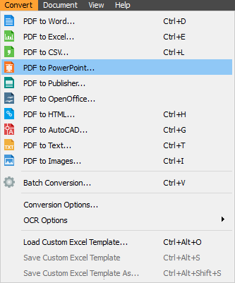 PDF to MS Powerpoint