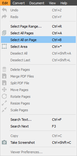 select one page