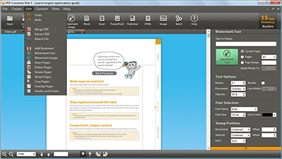 PDF CONVERTER Elite Interface
