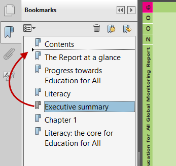 Acrobat Moving Bookmarks