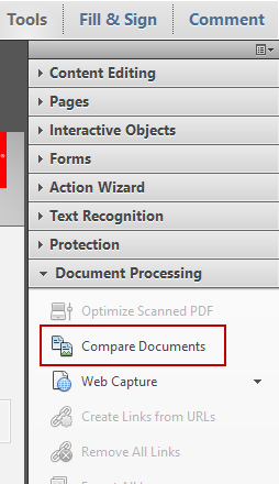 Acrobat Compare Documents Feature