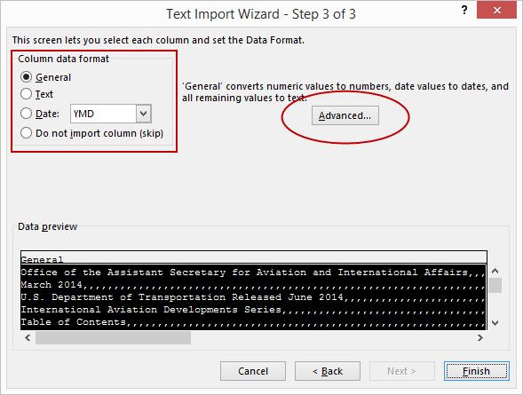 Text Import Advanced Excel
