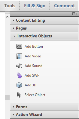Acrobat Add SWF Option