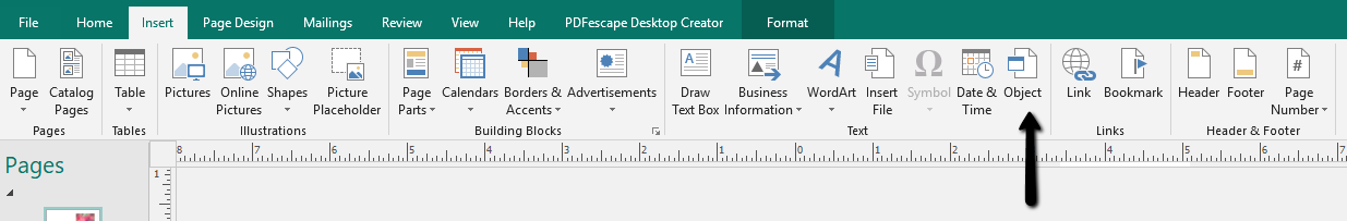 Insert PDF into Publisher