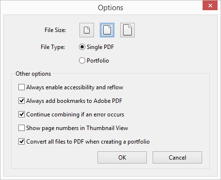 how to send multiple pdfs as one file