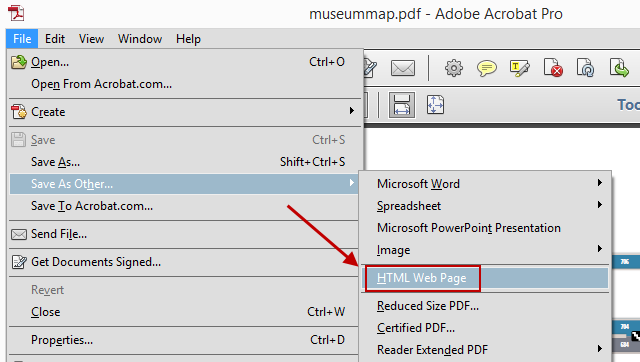 html  pdf save as
