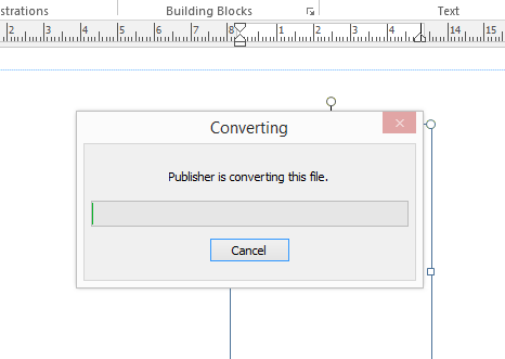 MS Publisher Converting File
