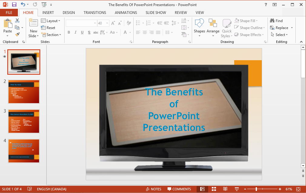 PowerPoint to PDF File