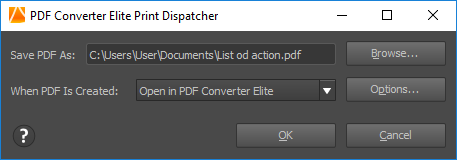 PDF Converter Elite Print Dispatcher