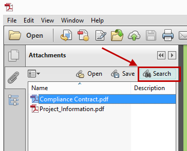 Reader Search PDF Attachments