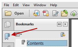 Reader Bookmarks Navigation Pane