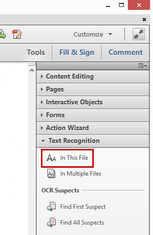 Processing PDF Text Recognition
