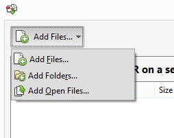 Acrobat Add Files Menu