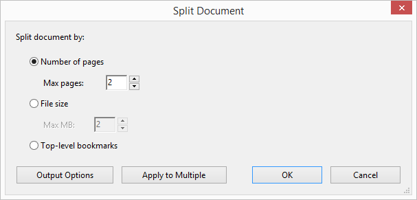 Split Document Dialog