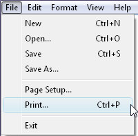 convert to pdf from notepad