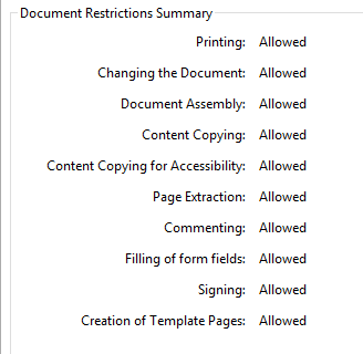 PDF Document Restrictions Removed