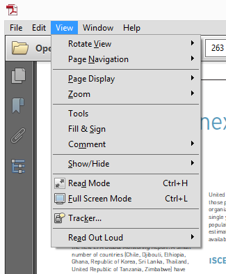 Reader PDF View Options