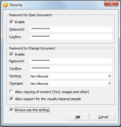 what is password to open pan in pdf