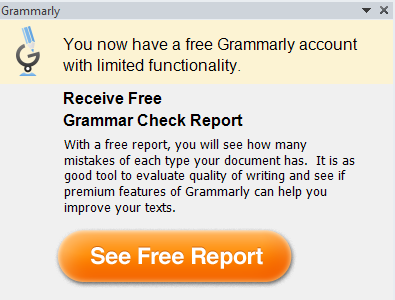 free grammar check report