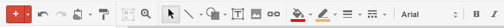 google presentations toolbar
