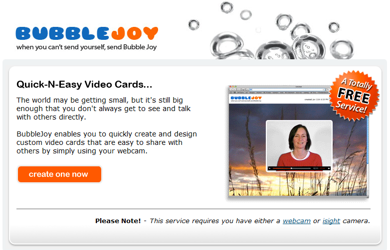 BubbleJoy video ecards