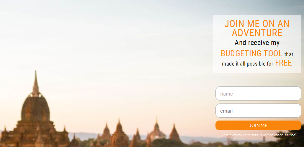 travel budgeting tool