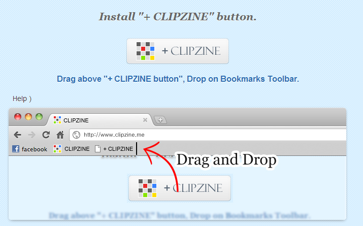 clipzine button