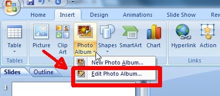 edit photo album