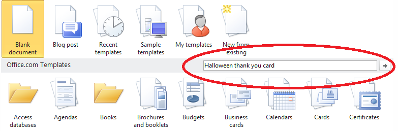 Office Template Search  How To Make A Thank You Card In Word