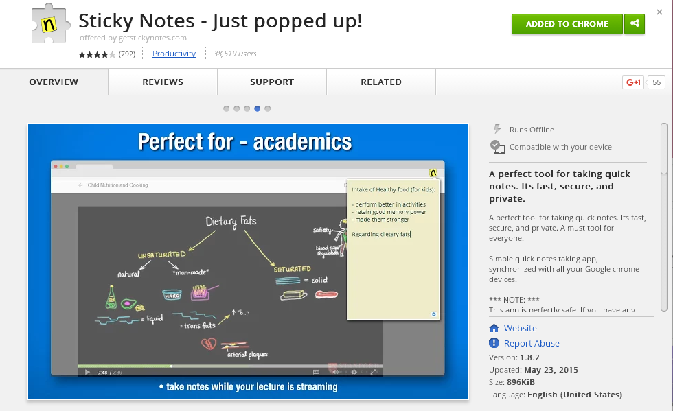 note taking extension