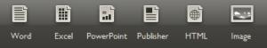 pdf conversion output formats