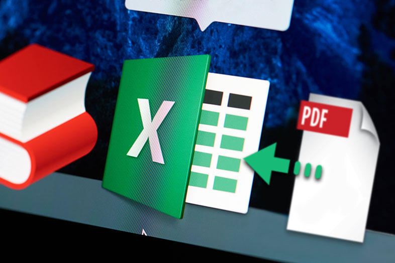 insert pdf into excel