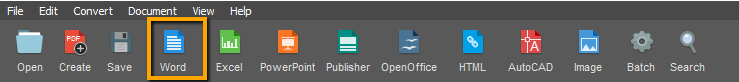 scanned pdf to word