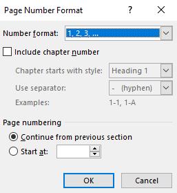 choose number format