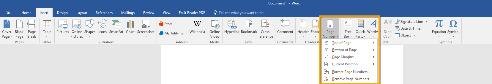 insert pdf document in page