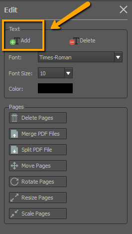 add text to pdf