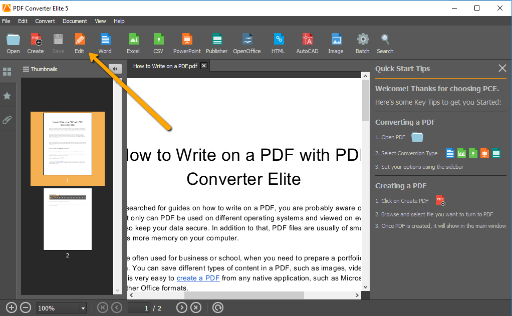 How to Write on a PDF with PDF Converter Elite 5