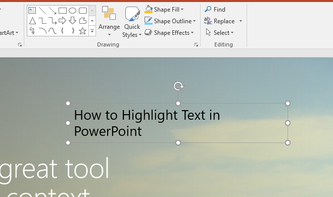 how to highlight text in powerpoint