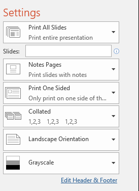 how to make pdf of powerpoint landscape orientation