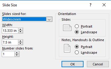 change slide size