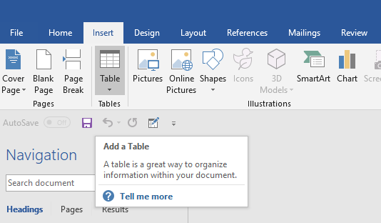 insert excel table into word