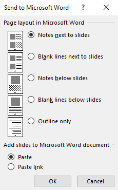 how to copy powerpoint slides into word