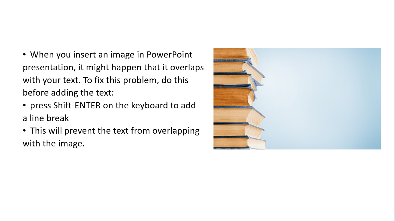 wrap text around image in powerpoint