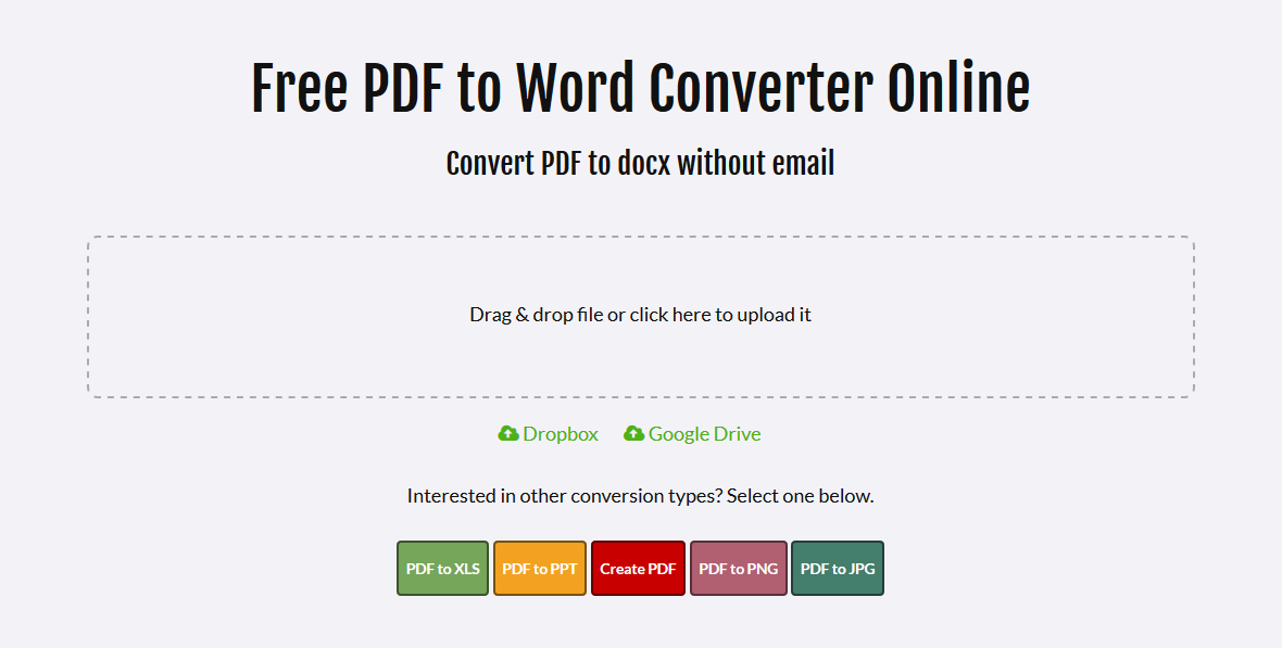 convert pdf to docx online for free