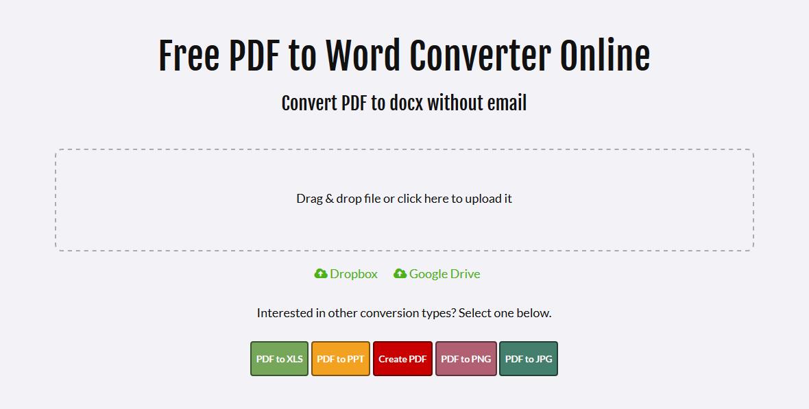 convert pdf to google doc online